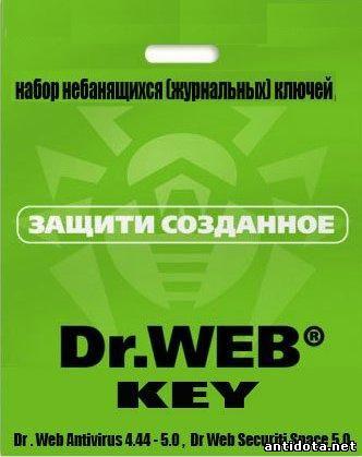 Журнальный ключ Dr.Web до 04.02.2013 скачать бесплатно, Скачать